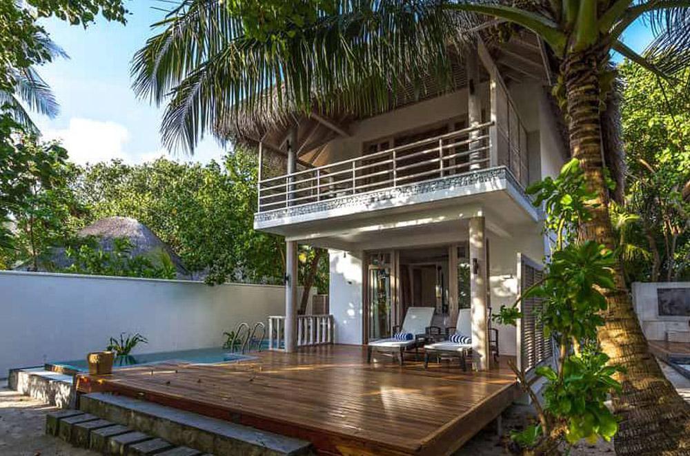 family duplex beach villa with pool
