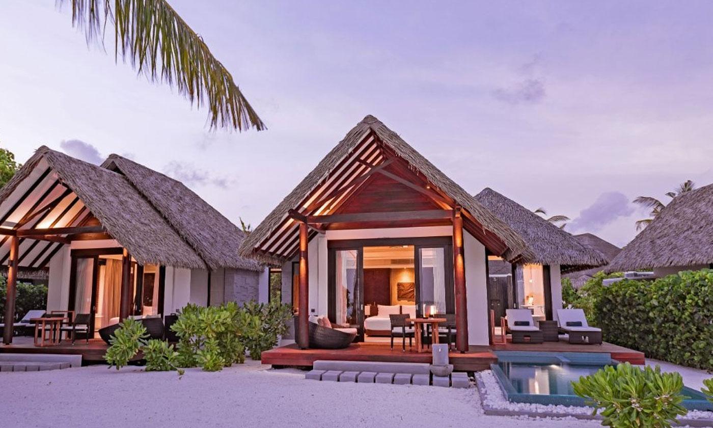 family pool beach villas