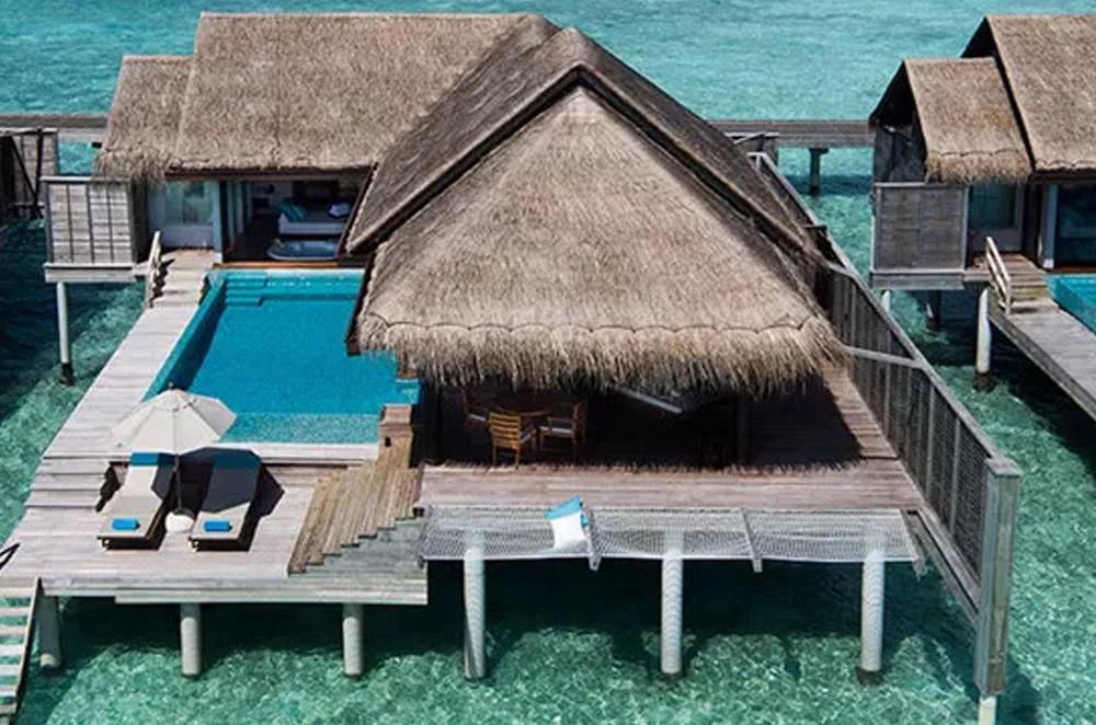 over water pool villa